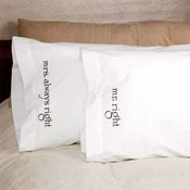 Mr. & Mrs. Right Pillowcases