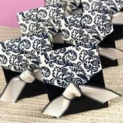 Black &amp;amp; Ivory Flourish Favor Boxes