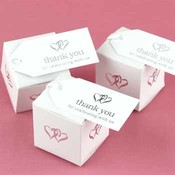 White Linked at Heart Favor Cards Wholesale Bulk