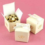 Ivory Linked at Heart Favor Boxes