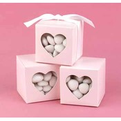 Pink Heart Window Favor Boxes