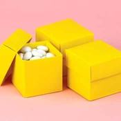 Two-Piece Favor Boxes- Yellow