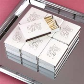 """The Perfect Match"" - Wedding Matchbooks - White"