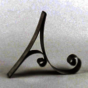 "Metal Letter Cake Top - 5"" Scroll - A"
