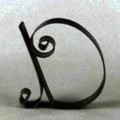 "Metal Letter Cake Top - 5"" Scroll - D"
