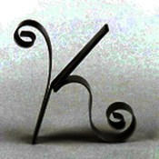 "Metal Letter Cake Top - 5"" Scroll - K"