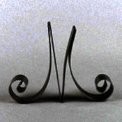 Metal Letter Cake Top - 5&quot; Scroll - M