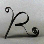 Metal Letter Cake Top - 5&quot; Scroll - R