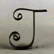 Metal Letter Cake Top - 5&quot; Scroll - T