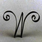 Metal Letter Cake Top - 5&quot; Scroll - W