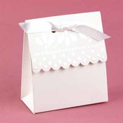 White Scalloped Edge Favor Boxes