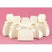 Ivory Dress Favor Boxes