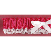 Fuchsia Ribbon & Lace Garter Wholesale Bulk