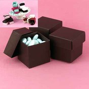 Two-Piece Favor Boxes- Mocha (Espresso)