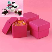 Two-Piece Favor Boxes- Fuchsia