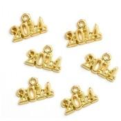 Gold Tone 2014 Charm Wholesale Bulk