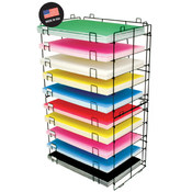 BAZIC 22' X 30' 10-Slots Foam/Poster Board Display Rack Wholesale Bulk