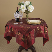 Jubilee Burgundy Tablecloth