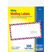 1' x 2 5/8' White Address Labels Wholesale Bulk