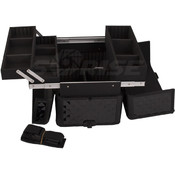 All Black Diamond Pro Makeup Rolling Case