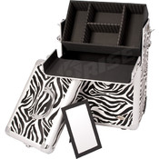 Zebra Rolling Makeup Case