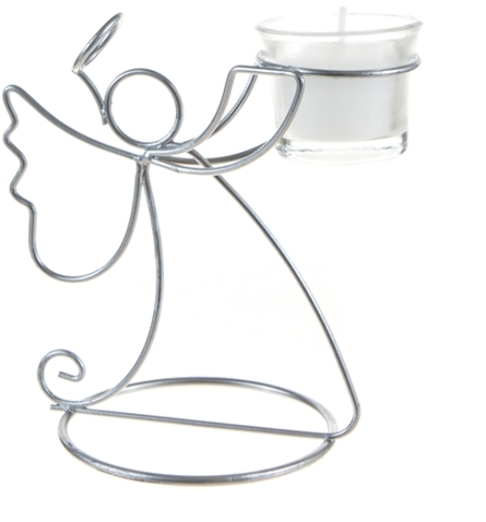 Angel CANDLE HOLDER - Matte Sliver [1775525]