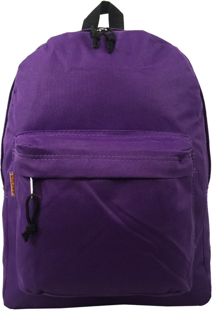 Wholesale 16 Quot Basic School Backpack Purple Sku 1903303
