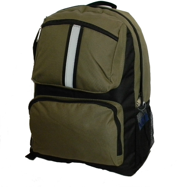''18 '''' BACKPACK with Safety Reflective Stripe - Olive Green [1184593]''