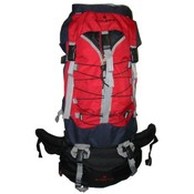 "600D Rip-Stop Poly Hiking Backpack w/Rain Cover 31""x15""x9"", Black/Red"