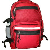 "Polyester Backpack w/bottle 19""x13""x8"" Red"