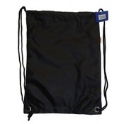 Large Drawstring backpack, 18&quot;x13&quot;, Black