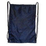 Large Drawstring Backpack 18&quot;x13&quot;, Navy.