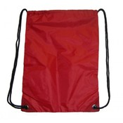 "Large Drawstring Backpack 18""x13"", Red."