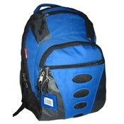 "600D Polyester Backpack 16.5""x11.5""x6.5"",Royal Blue/Gray"