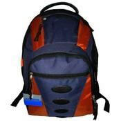 "16.6"" Backpack Navy/Orange"