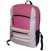 600D Poly Backpack, 18&quot;x13&quot;x5.5&quot;, Pink.