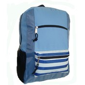 600D Poly Backpack, 18&quot;x13&quot;x5.5&quot;, Sky Blue.