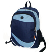 "18"" Multi Pocket Backpack - Navy/Light Blue"