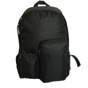 "17"" Backpack w/water bottler holder, 17""x12.5""x5.5"" Black."