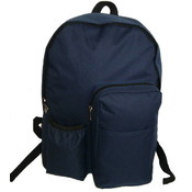 "17"" Backpack w/water bottler holder, 17""x12.5""x5.5"" Navy."