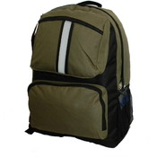 "18 "" Backpack with safety reflective stripe - Oliver Green"