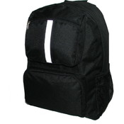 "18"" Backpack w/ reflective stripe, 18""x13""x6"", Black."