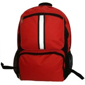 "18 "" Backpack with safety reflective stripe - Red"