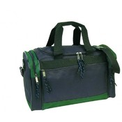 600D Poly 17&quot; Duffel Bag - Black/Dark Green