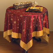 Sevilla Burgundy Tablecloth