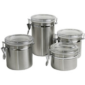 Canister Set 4  Pieces Stainless Steel