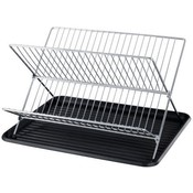 Folding Dish Rack W/Black Tray