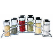 6 Piece Spice Rack Set Half Moon