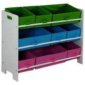 Storage Shelf with 9 Bins