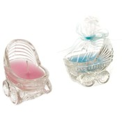 Glass Baby Carriage Scented Candle